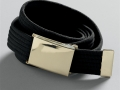 GOLD BUCKLE WEBB BELT black