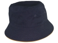 Brushed cotton Bucket Hat with brim highlights