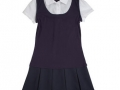 2-in-1 Pleated Dress cotton blend and polyester