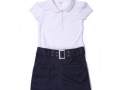 Belted Polo Dress polyester