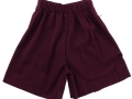 Box Pleat shorts_maroon1