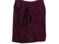 Box Pleat shorts_maroon2