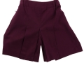 Box Pleat shorts_maroon3