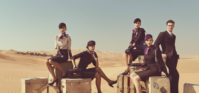 Air hostess uniforms fly high in style and sophistication